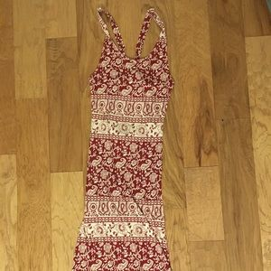 Forever 21 Red Paisley Maxi Dress